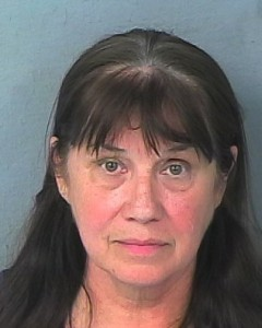Art teacher Sandra Hadsock's mug shot after fight with student