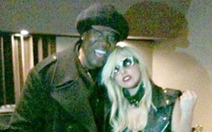 Clarence and Gaga...she is praying for her friend