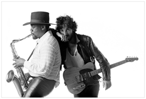 The incomparable Clarence Clemons with the Boss...R.I.P. Big Man!