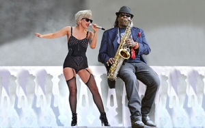 Lady Gaga And Clarence Clemons