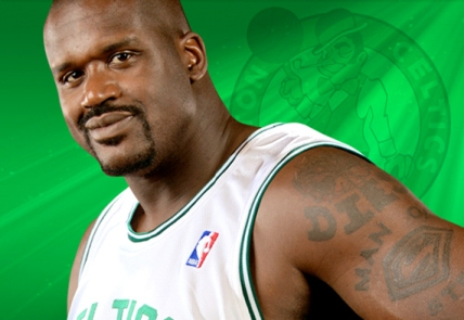 Shaquille O'Neal as a Celtic...time to quit