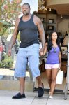 Shaq and Hoopz height difference...looks like a challenge from both sides of the game...